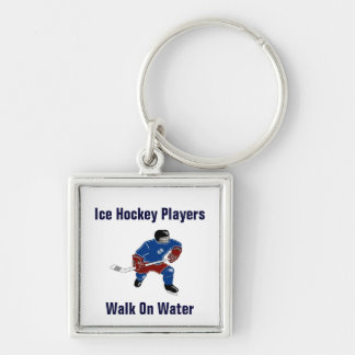 Paseo de los jugadores del hockey sobre hielo en e llaveros