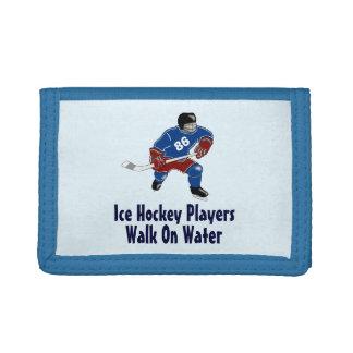 Paseo de los jugadores del hockey sobre hielo en l