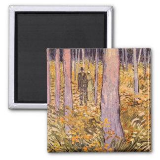Paseo de los pares en las maderas de Vincent van G Iman