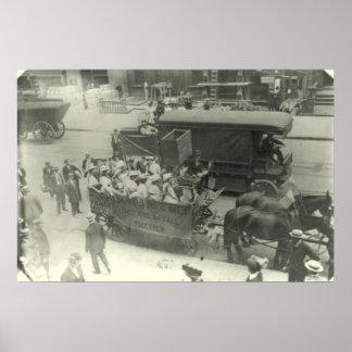 Paseo de los Suffragettes ayuntamiento Yonkers Póster