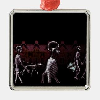 Paseo de medianoche de los esqueletos de la radiog adorno para reyes