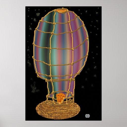 Paseo de medianoche del globo posters