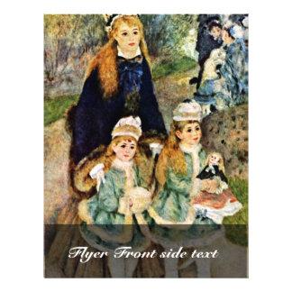"""Paseo de Pierre-Auguste Renoir (la mejor calidad) Folleto 8.5"""" X 11"""""""