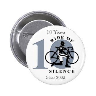 Paseo del 10mo botón anual de la conmemoración del pin redondo de 2 pulgadas