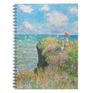 Paseo del acantilado de Monet en el cuaderno de Po