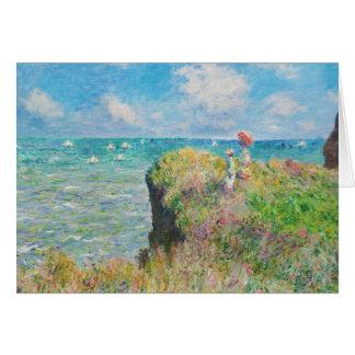 Paseo del acantilado de Monet en la tarjeta de fel