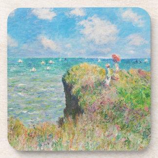 Paseo del acantilado de Monet en los prácticos de  Posavasos De Bebida