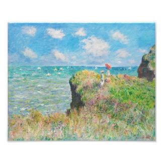 Paseo del acantilado de Monet en Pourville Fotografía