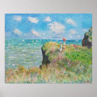 Paseo del acantilado de Monet en Pourville Poster