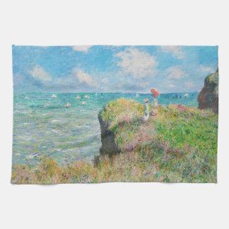 Paseo del acantilado de Monet en Pourville Toalla De Mano