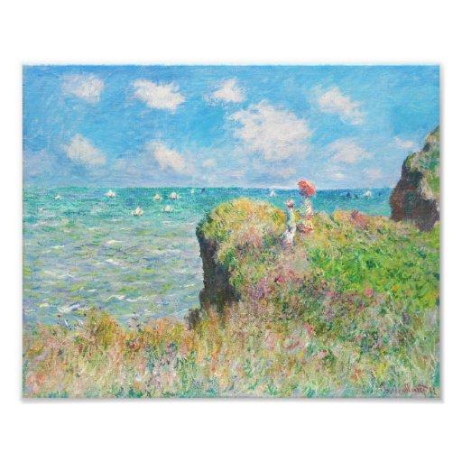 Paseo del acantilado de Monet en Pourville Fotos