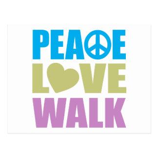 Paseo del amor de la paz postal