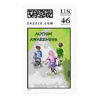 Paseo del autismo en los sellos del parque