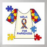 Paseo del autismo para la conciencia impresiones