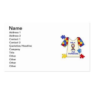 Paseo del autismo para la conciencia plantilla de tarjeta personal