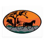 Paseo del caballo y del carro tarjeta postal