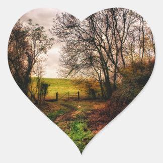 Paseo del campo pegatina corazón