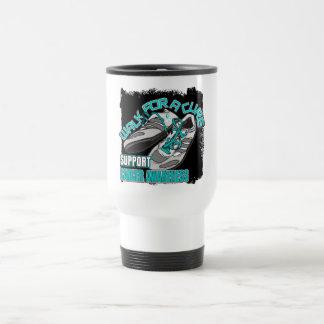 Paseo del cáncer de cuello del útero para los zapa taza de café