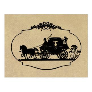 Paseo del carro con ropa y regalos del Cupid Tarjeta Postal