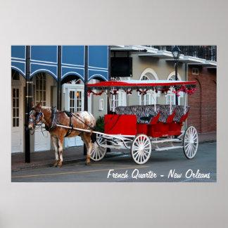 Paseo del carro de New Orleans Impresiones