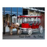 Paseo del carro de New Orleans Tarjetas Postales
