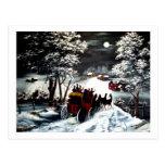 Paseo del carro del invierno tarjetas postales