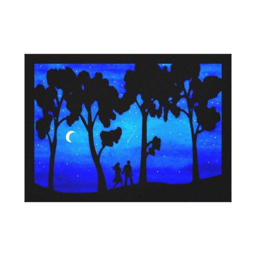 Paseo del claro de luna impresiones en lona