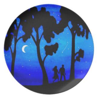 Paseo del claro de luna plato