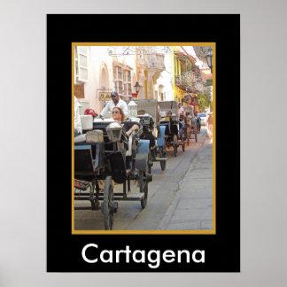 Paseo del Colombia-Carro en Cartagena Póster