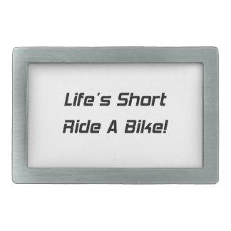 Paseo del cortocircuito de Lifes una bici Hebilla Cinturon Rectangular