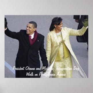 Paseo del día de inauguración de presidente Obama Póster