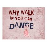 Paseo del don´t de la danza tarjeta postal