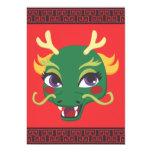 Paseo del dragón del Año Nuevo Invitación 12,7 X 17,8 Cm