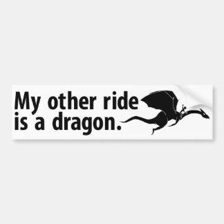 Paseo del dragón pegatina para auto