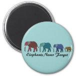 Paseo del elefante africano iman de frigorífico