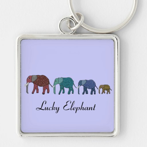 Paseo del elefante africano llavero personalizado