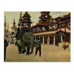 Paseo del elefante en Luna Park, Coney Island, Tarjeta Postal