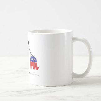 Paseo del elefante taza de café