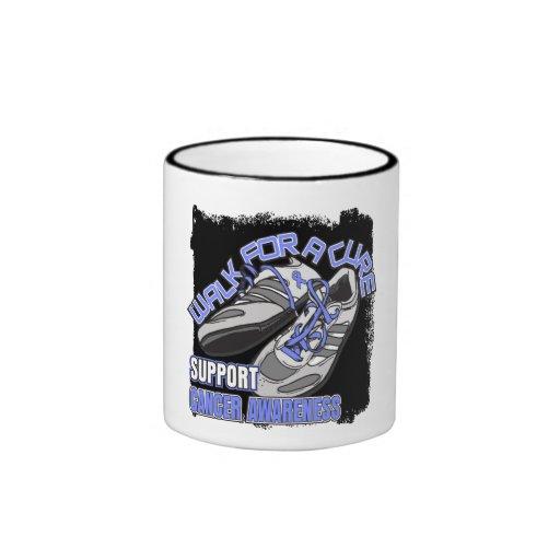 Paseo del esófago del cáncer para los zapatos de u tazas de café