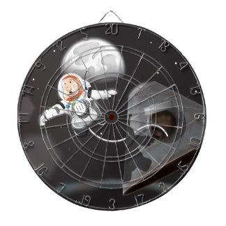 Paseo del espacio del astronauta tablero dardos