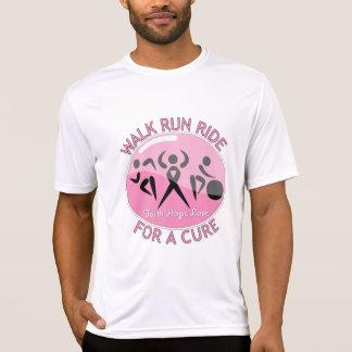 Paseo del funcionamiento del paseo del cáncer de p camisetas