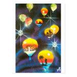 Paseo del globo del aire caliente postales
