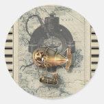 Paseo del globo dirigible de Steampunk