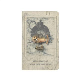 Paseo del globo dirigible de Steampunk Cuadernos