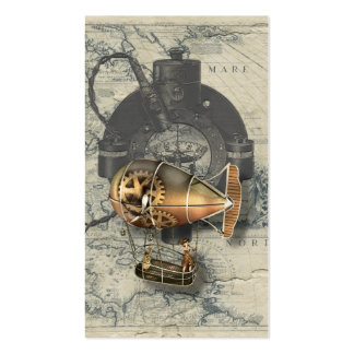 Paseo del globo dirigible de Steampunk Tarjetas De Visita