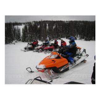 Paseo del grupo del Snowmobile Tarjetas Postales