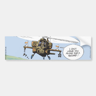 Paseo del helicóptero del pato del pantano pegatina de parachoque