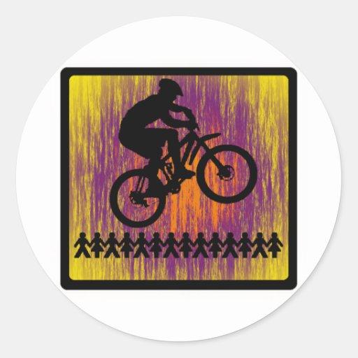 Paseo del interruptor de la bici etiquetas redondas