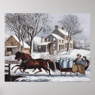 Paseo del invierno de la CAMISETA Poster