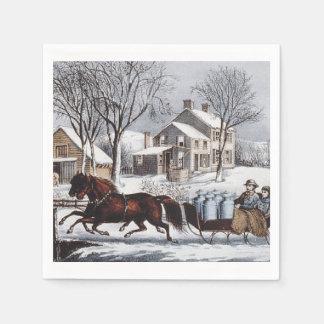 Paseo del invierno de la CAMISETA Servilleta Desechable